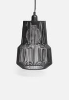 Sixth Floor - Lipsy wire pendant - black