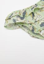 Sticky Fudge - Pelican frill diaper cover - green