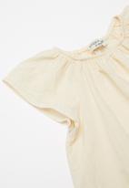 Sticky Fudge - Angora cap sleeve blouse - beige