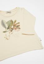 Sticky Fudge - Angora long sleeve T-shirt - beige
