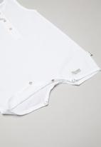 Sticky Fudge - Sleeveless romper - white