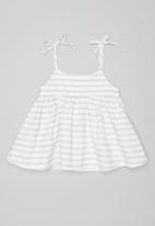 Sticky Fudge - Stripe summer dress - grey & white