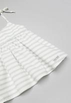 Sticky Fudge - Stripe summer dress - grey & white