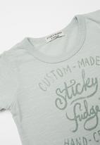 Sticky Fudge - Custom made basic T-shirt - blue