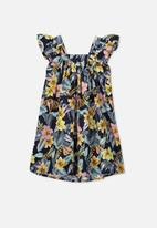 Cotton On - Polly placket dress - tropical floral