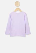 Cotton On - Penelope long sleeve tee - lilac