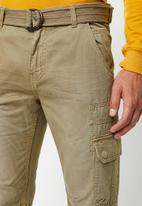 STYLE REPUBLIC - Belted cargo pants - beige