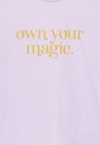 Cotton On - Penelope short sleeve tee - lilac
