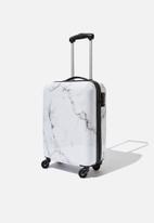 Typo - Tsa small suitcase - white marble