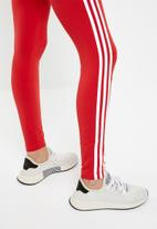 adidas Originals - Adicolour 3 stripe leggings - red