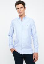 Tommy Hilfiger - Slim essential dobby shirt - blue