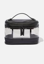 Cotton On - Rubi large structured cosmetic case  - black