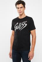 GUESS - Punk rock logo crew neck tee - black