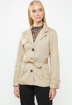 ONLY - Finesse short trench coat - beige