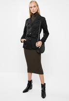 ONLY - Finesse short trench coat - black