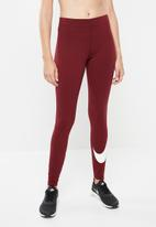 Nike - Nike sportswear legasee legging swoosh - red & white