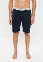 Superbalist - Knit slim fit lounge shorts - navy