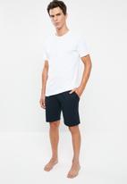 Superbalist - Knit slim fit lounge shorts - navy