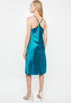dailyfriday - Satin slip dress - blue