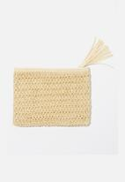 Cotton On - Sienna cosmetic pouch - natural