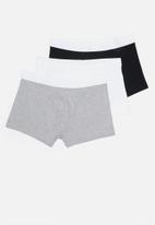 New Look - 3 Pack plain mono trunks - multi