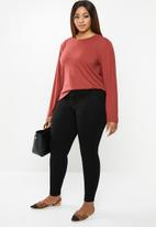 edit Plus - Crew neck long sleeve tee - rust