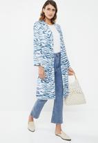 edit - Long kimono - blue zebra