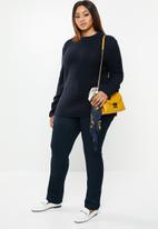 edit Plus - Zip back chunky knit - navy