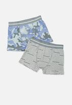 Cotton On - Boys 2 pack trunk - blue & grey