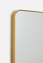 Sixth Floor - Rectangular mirror - gold frame