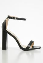 Superbalist - Angie strap block heel - black