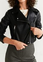 MANGO - Biker jacket - black