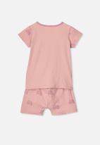 Cotton On - Harpa short sleeve pj set - pink