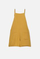Free by Cotton On - Tilly playsuit - gold rush