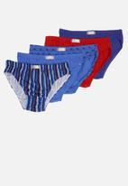 Jockey - 5 Pack fancy skants - blue & red