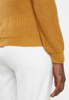 edit - Stitch detail jersey - orange