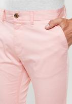 POLO - Milano stretch chino shorts - pink