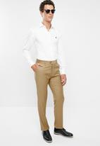 POLO - Mens classic custom fit formal trouser - brown