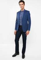 POLO - Mens jc birdseye custom fit formal trouser - navy