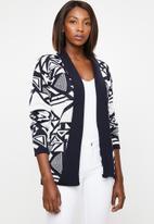edit - Kimono cardi - navy & white