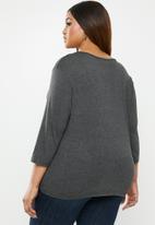 edit Plus - Asymmetrical knot top - grey