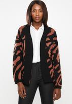 edit - Kimono cardi - brown & black