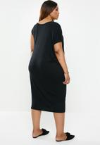 edit Plus - Asymmetrical styled dress - black