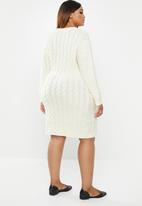 edit Plus - Cable knit tunic - cream