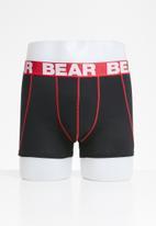 Bear - Bear rose and guitar - red & black