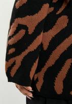 edit Plus - Kimono coat - rust & black