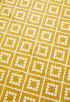 Sixth Floor - Shanara printed outdoor rug - yellow