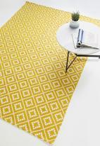 Sixth Floor - Shanara printed indoor/outdoor rug - yellow