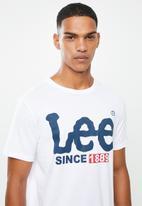 Lee  - Logo since 89 tee - white