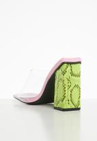 Public Desire - Klaudia heel - yellow & pink